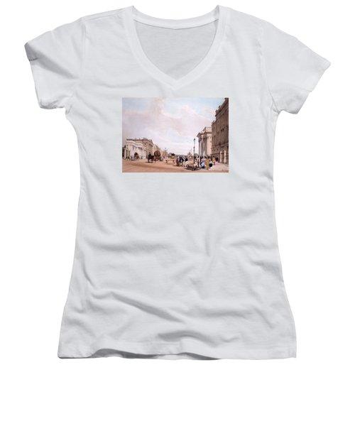 Hyde Park Corner, Looking Women's V-Neck T-Shirt (Junior Cut) by Thomas Shotter Boys