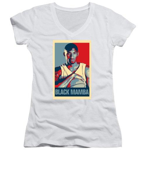 Kobe Bryant Women's V-Neck T-Shirt (Junior Cut) by Taylan Soyturk