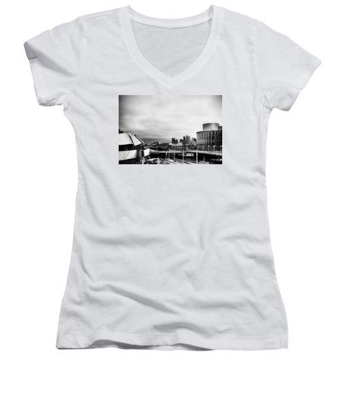 Minneapolis From The University Of Minnesota Women's V-Neck T-Shirt (Junior Cut) by Tom Gort