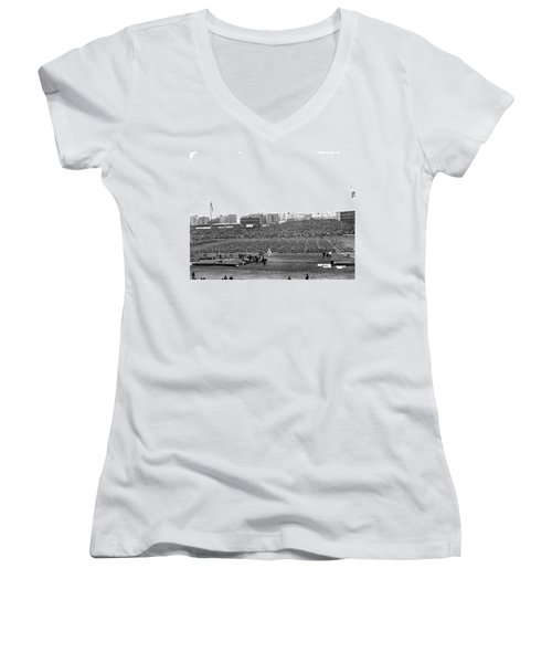 Notre Dame-army Football Game Women's V-Neck T-Shirt (Junior Cut) by Underwood Archives