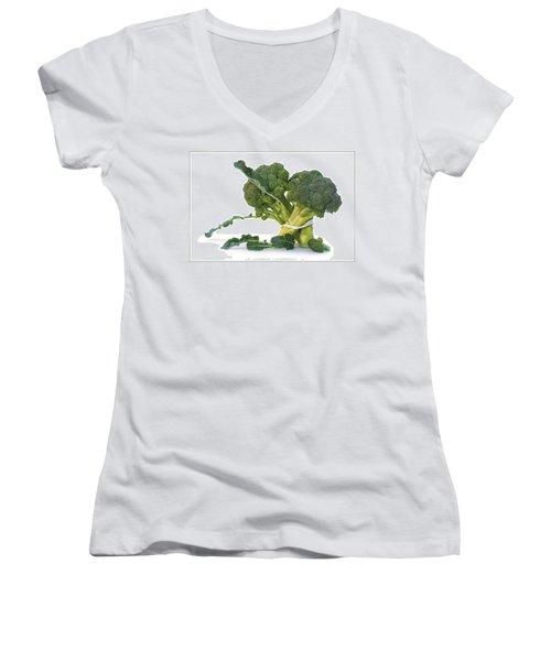 Pas De Trois Women's V-Neck T-Shirt (Junior Cut) by Nikolyn McDonald