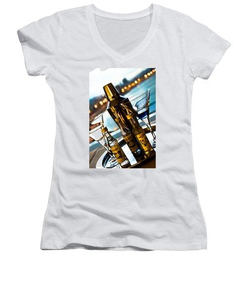 Ready For Drinks Women's V-Neck T-Shirt (Junior Cut) by Sotiris Filippou