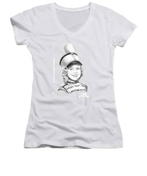 Shirley Temple Women's V-Neck T-Shirt (Junior Cut) by Murphy Elliott