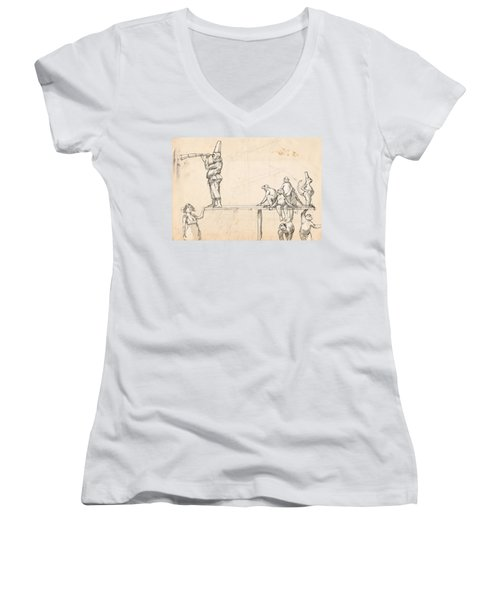 The Captain Women's V-Neck T-Shirt (Junior Cut) by H James Hoff