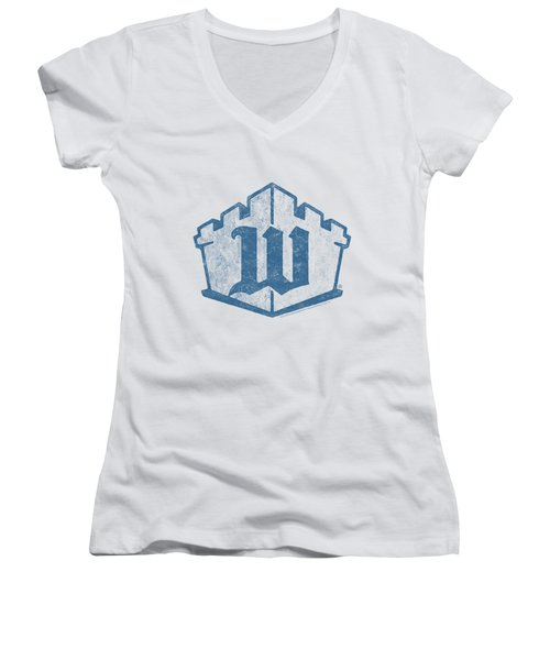 White Castle - Monogram Women's V-Neck T-Shirt (Junior Cut) by Brand A