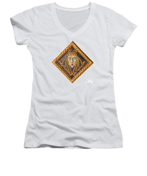 Medusa Women's V-Neck T-Shirt (Junior Cut) by Photo Researchers
