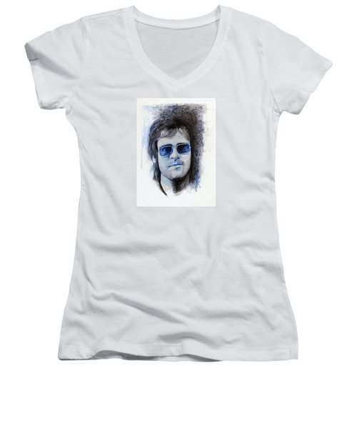 Madman Across The Water Women's V-Neck T-Shirt (Junior Cut) by William Walts