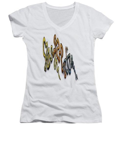 Snakes Women's V-Neck T-Shirt (Junior Cut) by Kevin Middleton