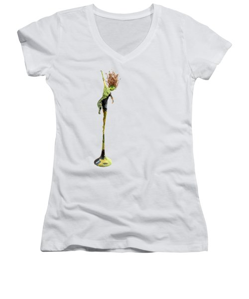 Spread Wings Women's V-Neck T-Shirt (Junior Cut) by Adam Long