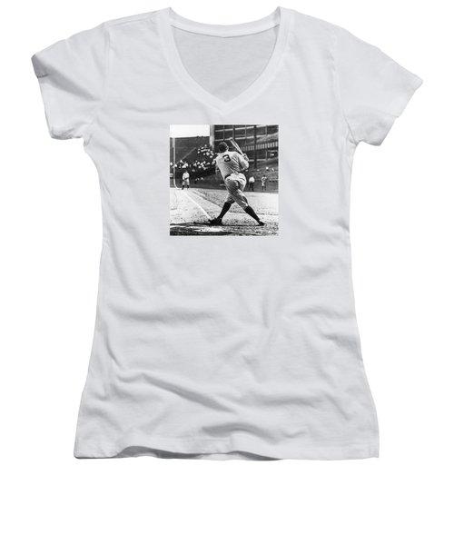 Babe Ruth Women's V-Neck T-Shirt (Junior Cut) by American School