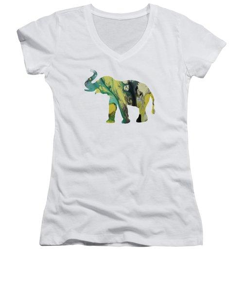 Elephant Women's V-Neck T-Shirt (Junior Cut) by Mordax Furittus
