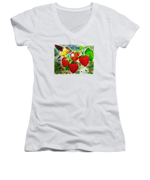 A Midsummer Daydream Women's V-Neck T-Shirt (Junior Cut) by Asha Aravind