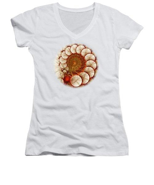 Apple Cinnamon Women's V-Neck T-Shirt (Junior Cut) by Anastasiya Malakhova