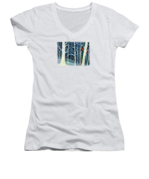 Quiet Moment Women's V-Neck T-Shirt (Junior Cut) by Hailey E Herrera