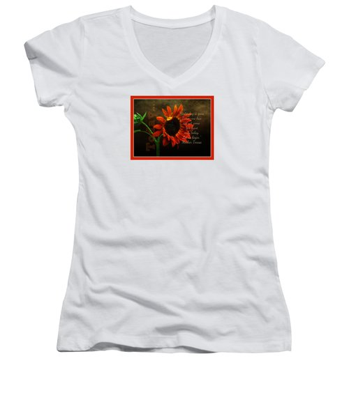 Today - Quote Women's V-Neck T-Shirt (Junior Cut) by Anita Faye