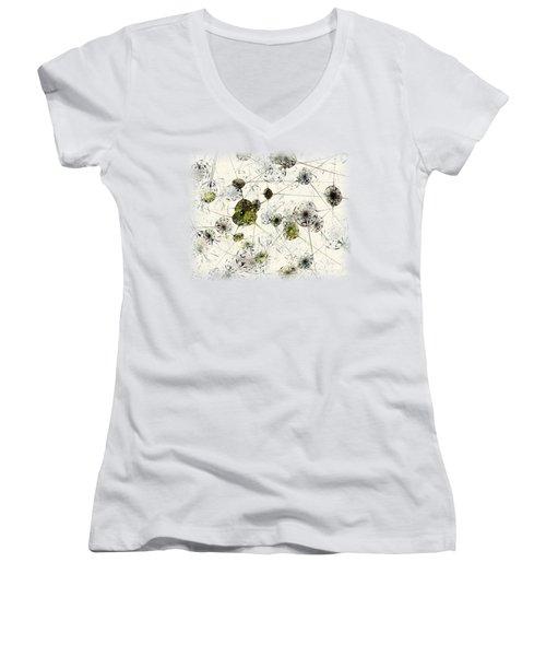 Neural Network Women's V-Neck T-Shirt (Junior Cut) by Anastasiya Malakhova