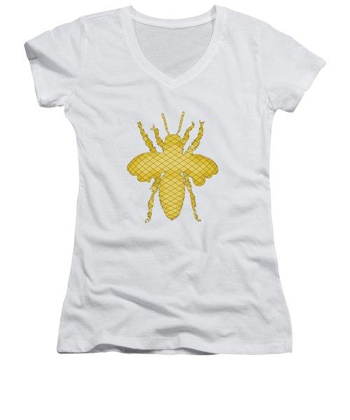 Bee Women's V-Neck T-Shirt (Junior Cut) by Mordax Furittus
