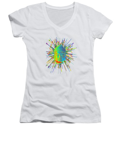 colorful Korean sparkle Women's V-Neck T-Shirt (Junior Cut) by Terrell Kaucher