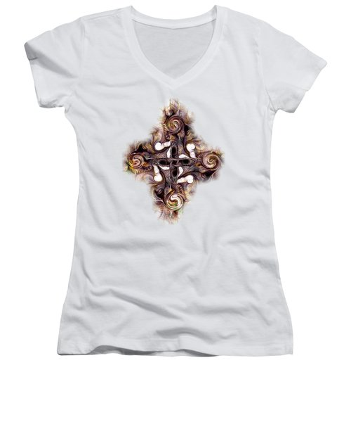 Desert Cross Women's V-Neck T-Shirt (Junior Cut) by Anastasiya Malakhova
