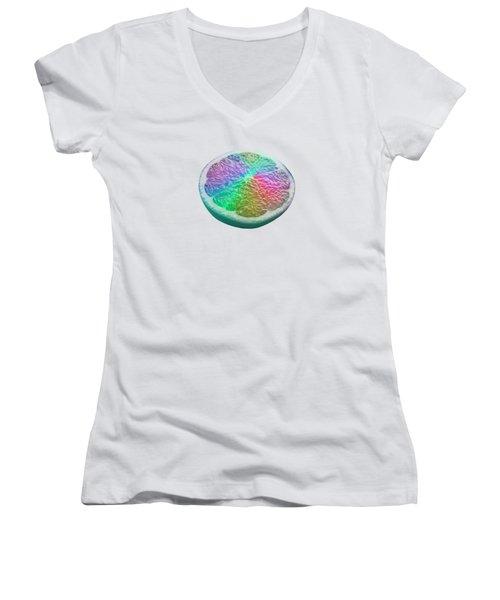 Dreamfruit Women's V-Neck T-Shirt (Junior Cut) by Mind Drip
