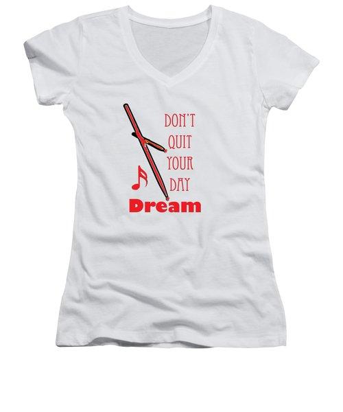 Drum Percussion Fine Art Photographs Art Prints 5020.02 Women's V-Neck T-Shirt (Junior Cut) by M K  Miller