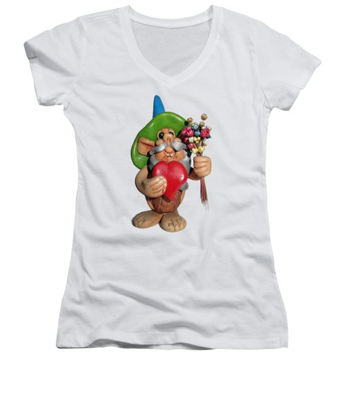 Elf Women's V-Neck T-Shirt (Junior Cut) by Ariel Pedraza
