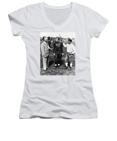 Fielding Yost (1871-1946) Women's V-Neck T-Shirt (Junior Cut) by Granger
