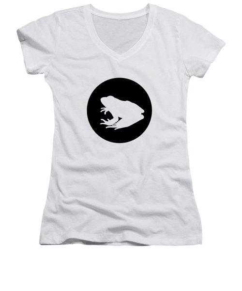 Frog Women's V-Neck T-Shirt (Junior Cut) by Mordax Furittus