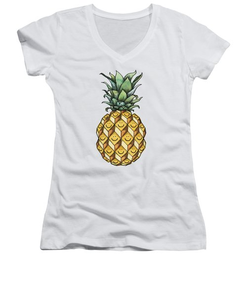 Fruitful Women's V-Neck T-Shirt (Junior Cut) by Kelly Jade King