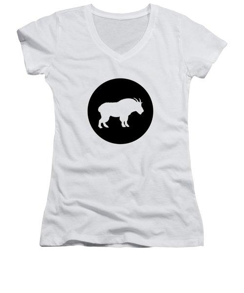 Goat Women's V-Neck T-Shirt (Junior Cut) by Mordax Furittus