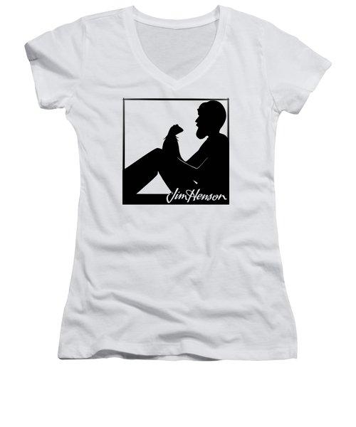 Henson's Moment Women's V-Neck T-Shirt (Junior Cut) by Jennifer Westlake