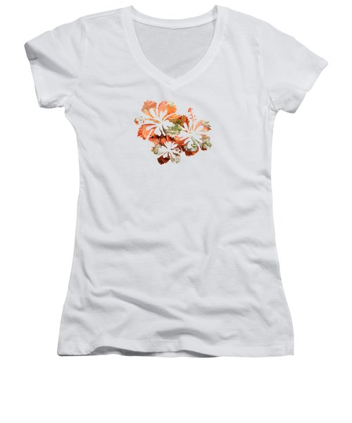 Hibiscus Flowers Women's V-Neck T-Shirt (Junior Cut) by Art Spectrum