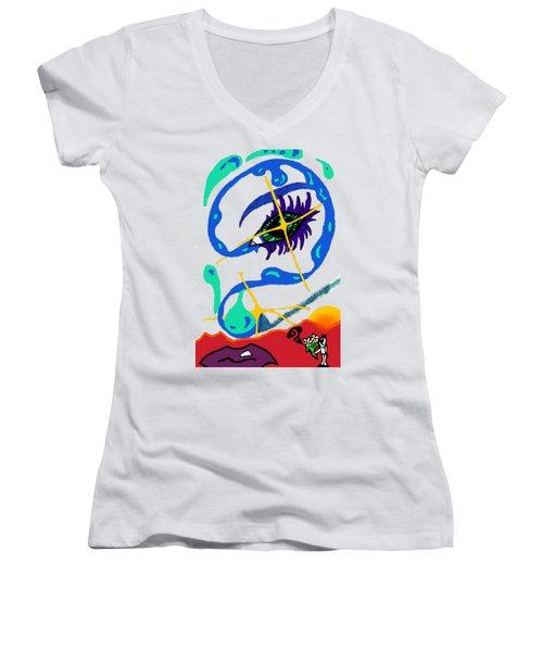iseeU Women's V-Neck T-Shirt (Junior Cut) by Flyn Phoenix