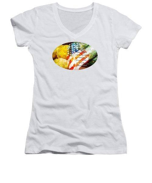 Jefferson's Farm Women's V-Neck T-Shirt (Junior Cut) by Anita Faye