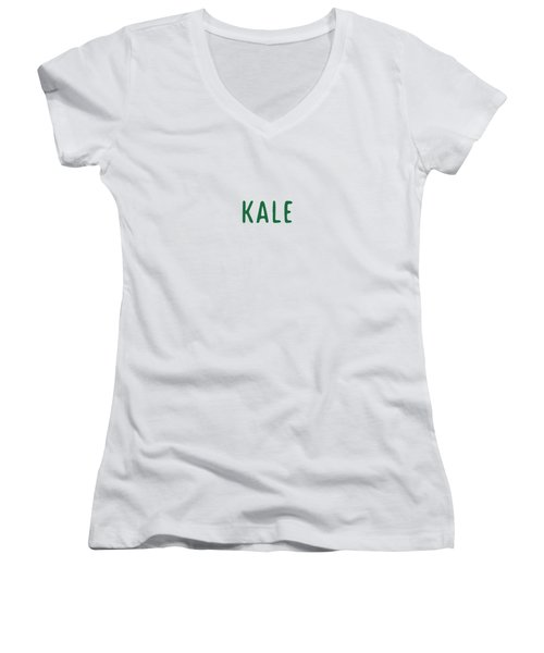 Kale Women's V-Neck T-Shirt (Junior Cut) by Cortney Herron