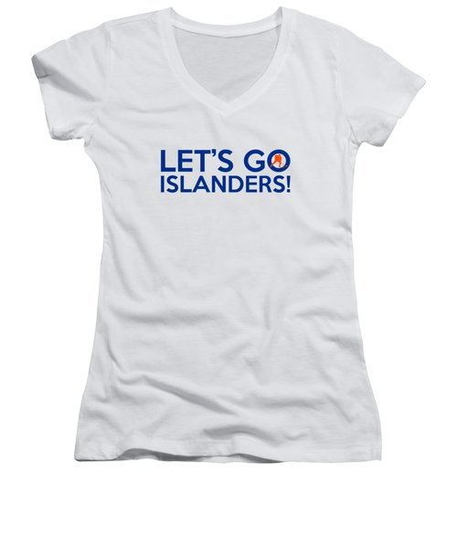 Let's Go Islanders Women's V-Neck T-Shirt (Junior Cut) by Florian Rodarte
