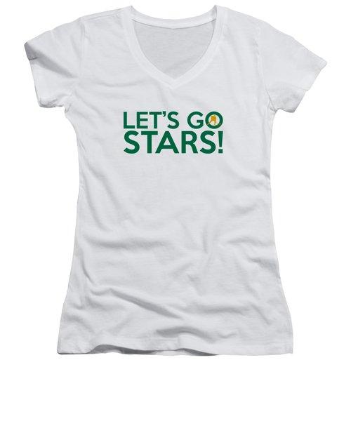 Let's Go Stars Women's V-Neck T-Shirt (Junior Cut) by Florian Rodarte