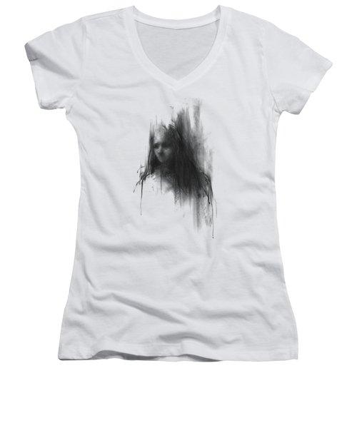Like A Girl II Women's V-Neck T-Shirt (Junior Cut) by Bruno M Carlos
