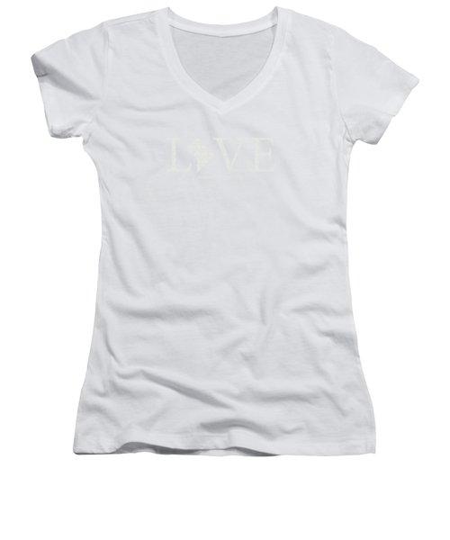 Ma Love Women's V-Neck T-Shirt (Junior Cut) by Nancy Ingersoll