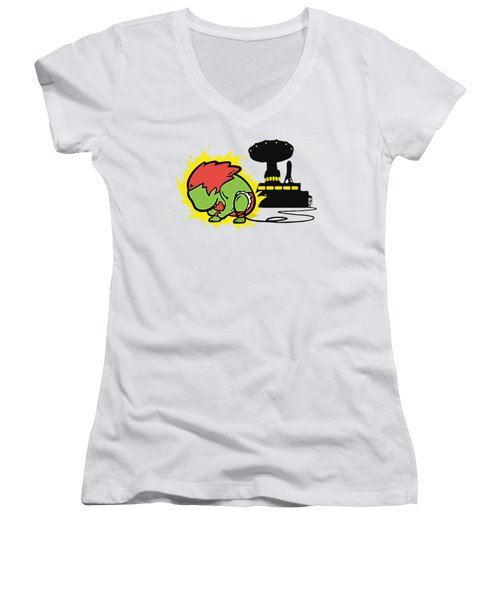 Monster Women's V-Neck T-Shirt (Junior Cut) by Opoble Opoble