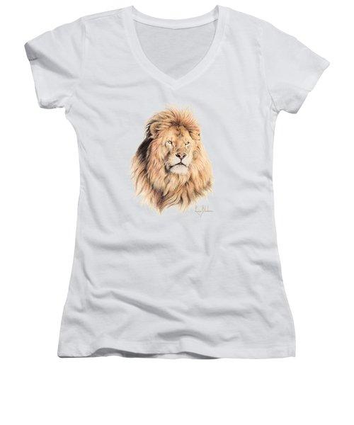 Mufasa Women's V-Neck T-Shirt (Junior Cut) by Lucie Bilodeau