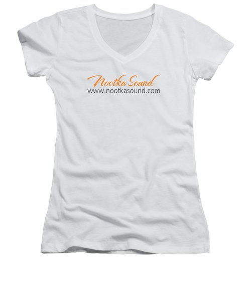 Nootka Sound Logo #12 Women's V-Neck T-Shirt (Junior Cut) by Nootka Sound