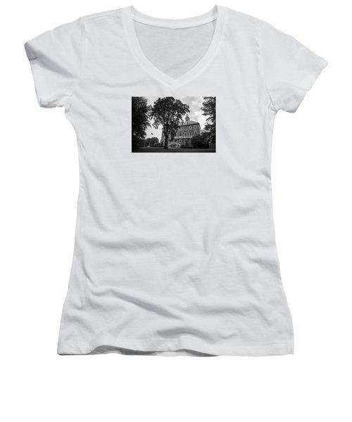 Old Main Penn State Women's V-Neck T-Shirt (Junior Cut) by John McGraw