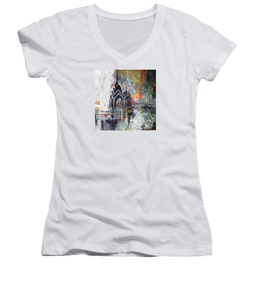 One Liberty Place And Two Liberty Place 229 3 Women's V-Neck T-Shirt (Junior Cut) by Mawra Tahreem