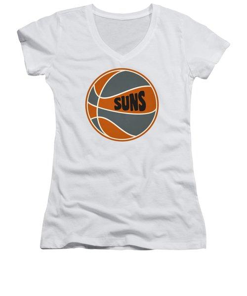 Phoenix Suns Retro Shirt Women's V-Neck T-Shirt (Junior Cut) by Joe Hamilton