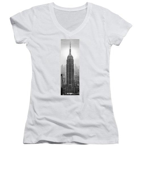 Pride Of An Empire Women's V-Neck T-Shirt (Junior Cut) by Az Jackson
