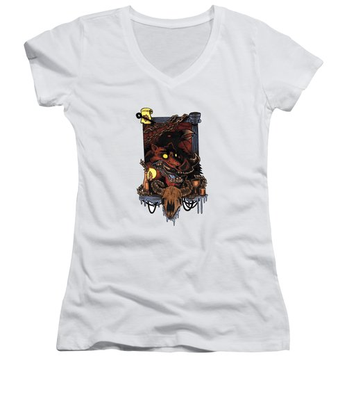 Shmignola Women's V-Neck T-Shirt (Junior Cut) by Vicki Von Doom