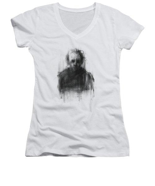 Simple Man II Women's V-Neck T-Shirt (Junior Cut) by Bruno M Carlos