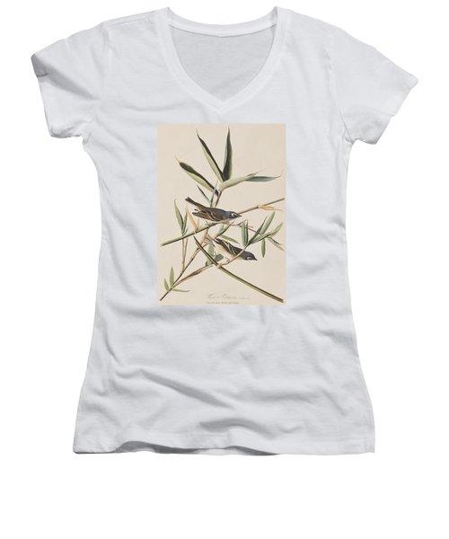 Solitary Flycatcher Or Vireo Women's V-Neck T-Shirt (Junior Cut) by John James Audubon