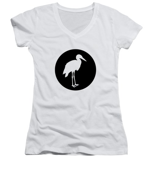 Stork Women's V-Neck T-Shirt (Junior Cut) by Mordax Furittus